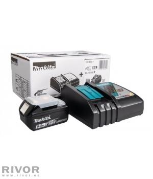 Makita набор : зарядное устройство Makita DC18RC + 18V 5.0Ач аккумулятор