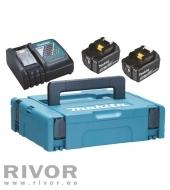 Charger + 2 batterys 18V, 2XBL1850B, DC18RC, MAKPAC