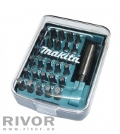 Makita Screwdriver set 30pcs + magentic holder (PH1; PH2; PH3; PZ0; PZ1; PZ2, PZ3, T10; T15; T20; T25; T30; T40, 4;5;6)