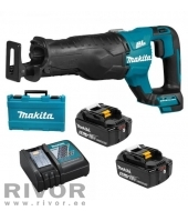 Makita 18V Brushless Reciprocating Saw LXT (with 2 x 5.0 ah battery and DC18RC charger)