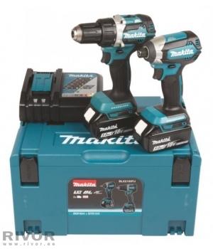 Makita набор 18V /2 аккумулятора  x5,0Ah Li-ion (аккумуляторная дрель DDF484 + аккумуляторная ударная  отвертка DTD153)