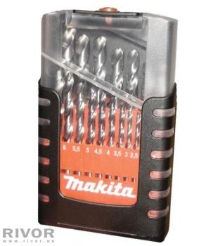 Makita metall drills 19 lots. (1-10mm)