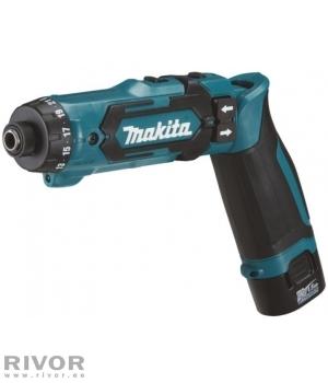 Makita screwdriver gun 7.2V + 2 batterys 1.5aH