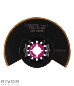 Makita мультитольная сегментная пила 85мм TMA064; BIM-TIN, STARLOCK, разные материалы