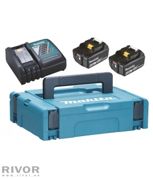 Makita battery pack (2x 4.0 ah + Quick Charger DC18RC)