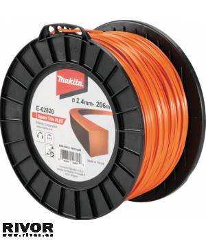 Makita Square Trim Plus Nylon Line (2.4mm x 206m)