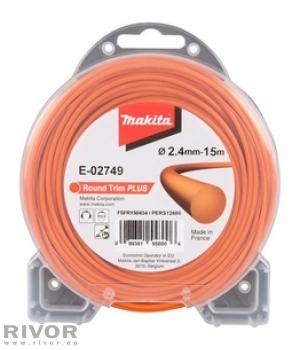 Makita E-02749 Round Trim Plus Nylon Line (2.4mm x 15m)