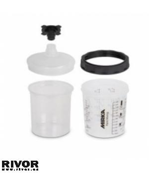 Mirka Paint Cup System 180ml Filter Lid 125µm 50tk