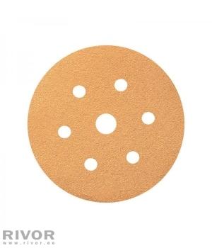 Шлифовальный диск Smirdex 820 желтая линия 150мм P150  6 отв