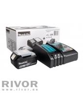 Makita charger DC18RC + 18V 5.0Ah battery set