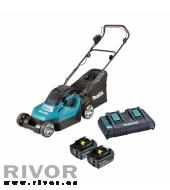 Makita Cordless Lawn Mower (2x 5.0Ah battery + quick charger)