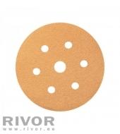 Шлифовальный диск Smirdex 820 желтая линия 150мм P120  6 отв
